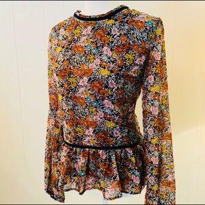 Love Riche Thinking of You Floral Peplum Blouse